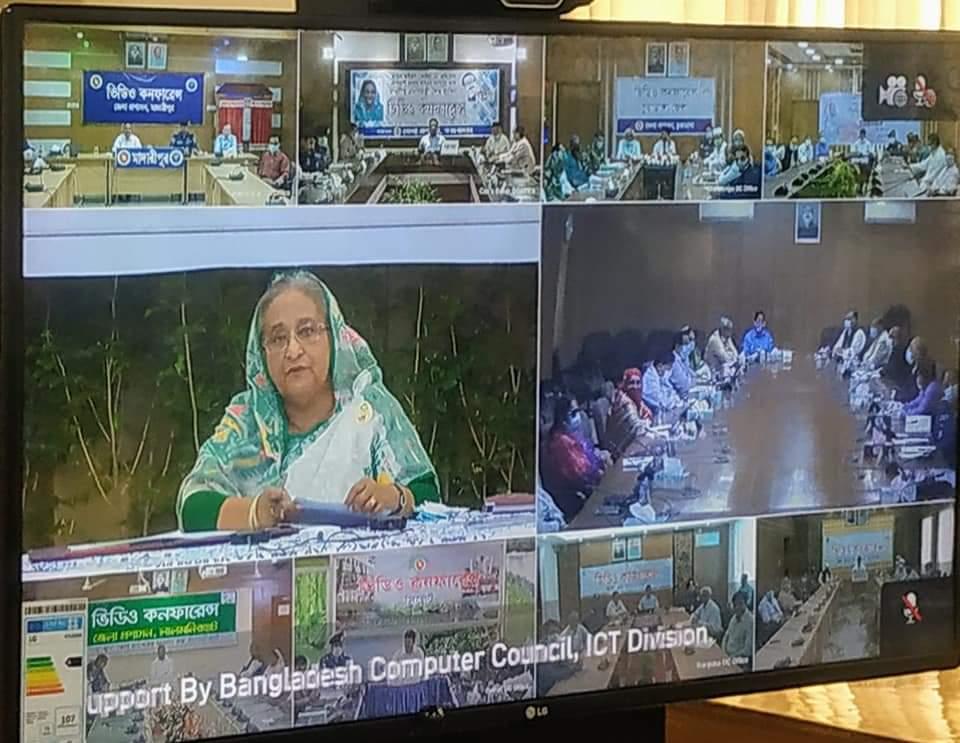 করোনা পরিস্থিতিতেপ্রধানমন্ত্রীর সাথে ভিডিও কনফারেন্স সুনামগঞ্জ জেলা প্রশাসক