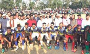 শায়েস্তাগঞ্জে এমপি আবু জাহির গোল্ডকাপ ফুটবল টুর্ণামেটে অনুষ্ঠিত