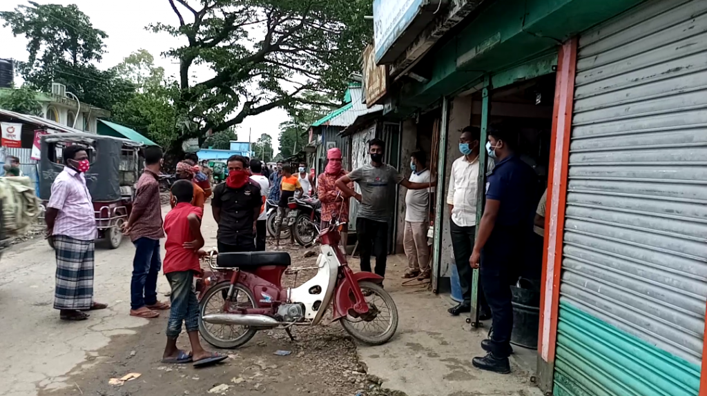 ধর্মপাশায় বাদশাগঞ্জে ভ্রাম্যমাণ আদালতে জরিমানা