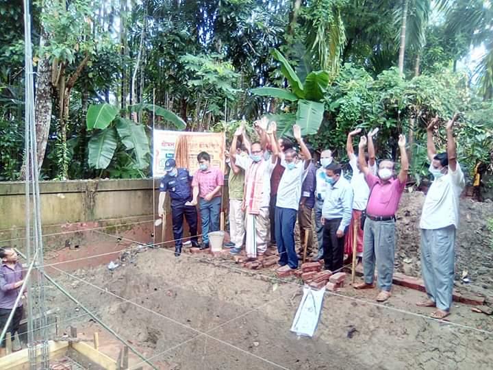 জকিগঞ্জ কেন্দ্রীয় মন্দিরের ভিত্তিপ্রস্থর স্থাপন
