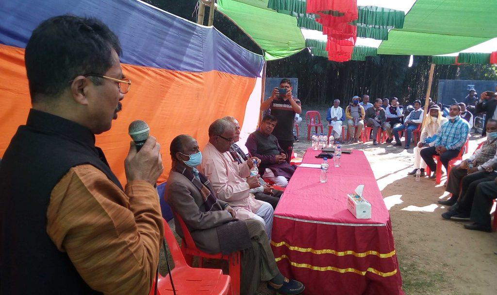 বিশ্বম্ভরপুরে শ্রী শ্রী অদ্বৈধ জন্মধাম উপজেলা কমিটি গঠন
